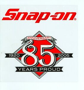 New Vintage Snap On Tools Tool Box Sticker Decal Man Cave Garage 85th Anni 10
