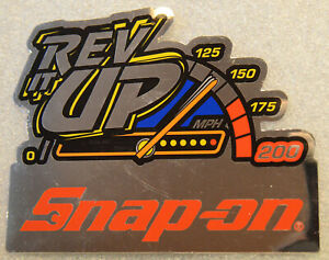 new Vintage Snap on Tools Tool Box Sticker Decal Man Cave Garage Rev It Up 50