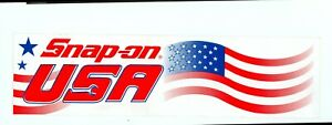 New Vintage Snap On Tools Tool Box Sticker Decal Man Cave Garage Usa Flag 25