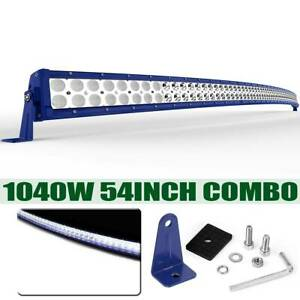 Curved 54inch 1040w Led Light Bar Flood Spot Driving Truck Boat Suv 4wd 52