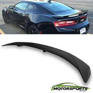 For 2016 2017 Chevy Camaro Rs Ss Zl1 3 Post Abs Rear Trunk Spoiler Matte Black