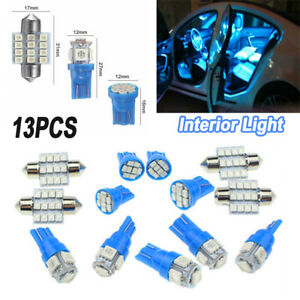 13x Auto Car Interior Accessories Led Lights For Dome License Plate Lamp 12v Kit