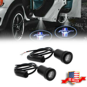 2pcs Wireless Car Door Ghost Shadow Projector Laser Logo Led Lights For Mustang