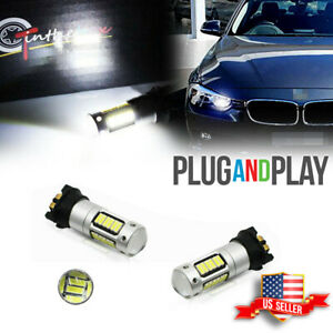 2pcs Led Daytime Running Light Drl Fog Lamp Day Lights Kit For Bmw F30 3 Series