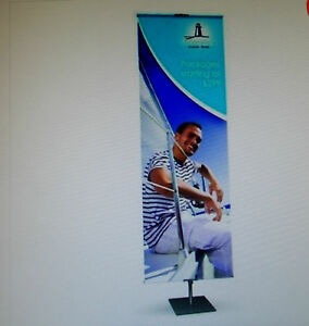 Testrite Bn2 Classic Banner Stand 36 96 Telescoping 36 Wide Graphic D w