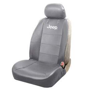 New Jeep Elite Gray Synthetic Leather Car Truck Suv Front Sideless Seat Cover