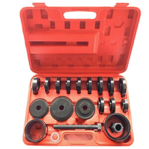 23pcs Front Wheel Bearing Press Kit Removal Adapter Puller Pulley Tool Case 2019