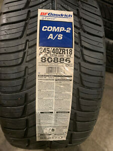 1 New 245 40 18 Bfgoodrich G Force Comp 2 A S Tire