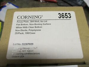 Corning 3653 Assay Plate Non sterile 384 Well Nbs No Lid 25 pk