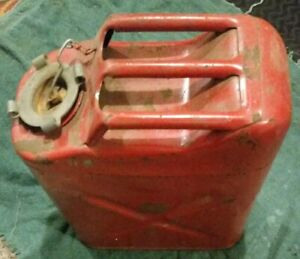 Usmc 5 20 73 Dot5 l Red Metal Gasoline Gas Jerry Can 5 Gallon Willy s Jeep Blitz