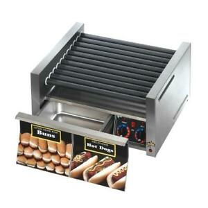 Star 30scbde Grill max Pro Electronic 30 Hot Dog Roller Grill W Bun Drawer