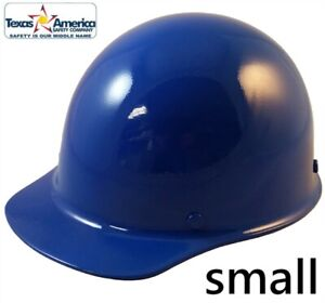 Msa Skullgard small Shell Cap Style Hard Hat With Ratchet Suspension Blue