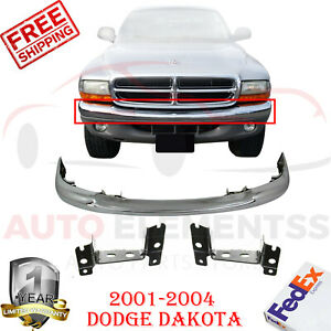 Front Chrome Bumper Brackets Kit For 2001 2004 Dodge Dakota Set Of 3