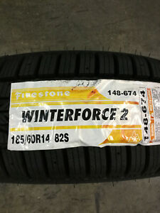 2 New 185 60 14 Firestone Winterforce 2 Snow Tires