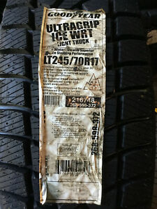 1 New Lt 245 70 17 Goodyear Ultra Grip Ice 10 Ply Snow Tire