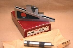 Vtg L s Starrett Co No 246 Planer Shaper Gage W box Level Extensions