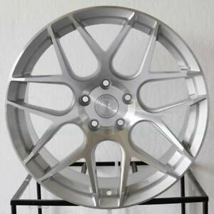 Aodhan Ls002 19x8 5 5x114 3 35 Machined Silver 19 Inch Wheels Rims Set Of 4