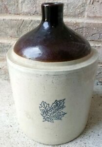 Antique 1 Gallon Crock Jug Western Stoneware Company