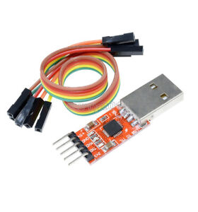 New Usb 2 0 To Ttl Uart 5pin Module Serial Converter Cp2102 Stc Prgmr Free Cable