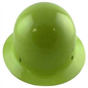 Msa Skullgard Full Brim Hard Hat With Fastrac Iii Suspension Lime Green