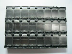10 Pcs Smt Electronic Component Mini Storage Box 24 Grid Black T156 New