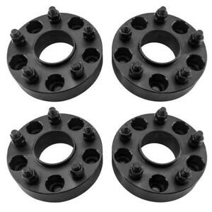 4x 1 5 Black Wheel Spacers Adapters 5x5 For Jeep Wrangler Jk Hub Centric 5 Lug