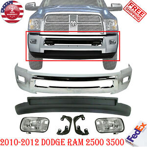 Front Bumper Chr Valance Fog Light Bracket For 2010 2012 Dodge Ram 2500 3500 4wd