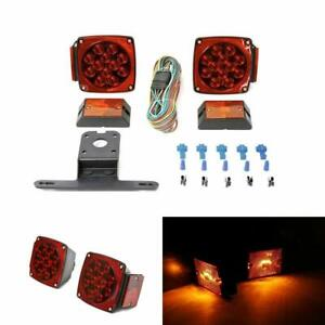 Led Trailer Lights Submersible Kit Boat Tail Wiring Harness Under 80 Inches Wide