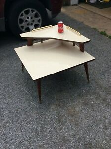 Mid Century Side Table Space Age Plant Stand Formica Planter End Table Vintage
