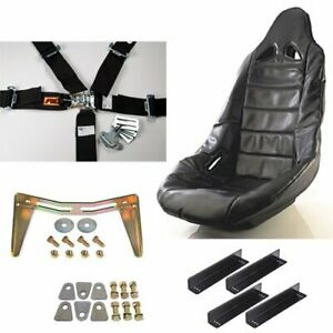 Jegs Performance Products 70250k14 Pro High Back Ii Race Seat Kit Includes Blac