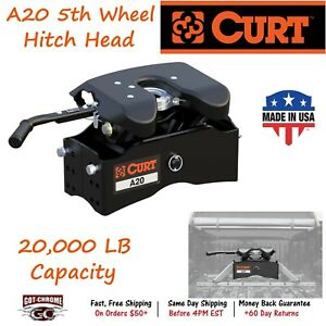 16540 Curt A20 5th Wheel Hitch Head Requires 5th Wheel Roller legs For Install