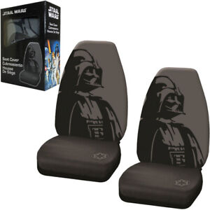 New Disney Star Wars Darth Vader Car Truck 2 Front Bucket Seat Covers Set
