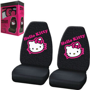 New Sanrio Hello Kitty Collage Car Truck 2 Front Bucket Seat Covers Set