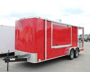 New 7x21 7 X 21 Enclosed Concession Food Vending Bbq Porch Trailer Must See