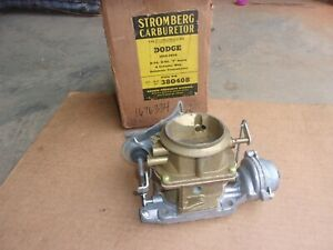 1955 1956 Dodge Plymouth 6 Cyl Automatic Nos Stromberg Model Ww 2bbl Carburetor