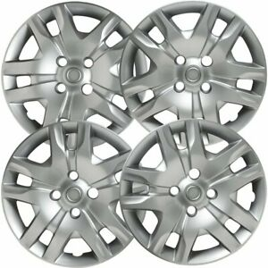 4 Pc Hubcaps Fits 10 12 Nissan Sentra 16 Silver Replacement Wheel Skin Cover
