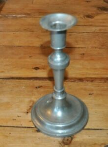 C 1820 Century Contintental Pewter Socket Candlestick