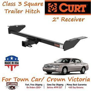 13707 Curt Class 3 Square Trailer Hitch With 2 Receiver Crown Vic Town Car