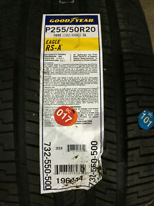 2 New 255 50 20 Goodyear Eagle Rs A Tires