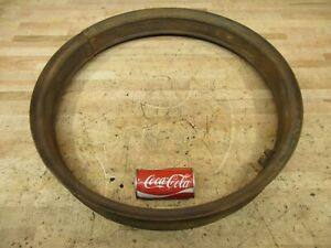 Antique Model A T Car Truck Era Wood Wheel Tire Steel Rim Band 24 X 3 Usable