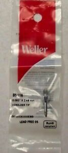 Weller Desoldering Tip Ds113 0 093 X 2 48mm One Lot Of 5 All New In Its Original