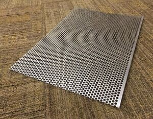 20 Ga Perforated 316 Stainless Steel Sheet 0 0375 X 15 25 X 10 5 3 16 Hole