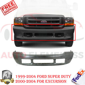 Front Bumper Steel For 2000 2004 Ford Super Duty F 250 F 350 Excursion 99 04
