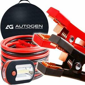 Autogen Heavy Duty Jumper Cables 1 Gauge X 25ft 900a Booster Cables Strongest