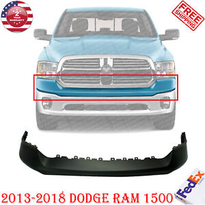 Front Bumper Upper Cover Primed For 2013 2018 Dodge Ram 1500 All Cab Types