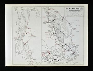 West Point Wwii Map War Japan Malaysia Campaign Thailand Battles Singapore Asia