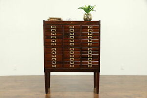 Stacking 36 Drawer Antique 1915 File Collector Or Music Cabinet Weis 31278