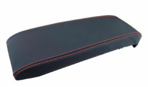 Fits 10 17 Chevrolet Equinox Center Console Cover Genuine Leather Red Stitch
