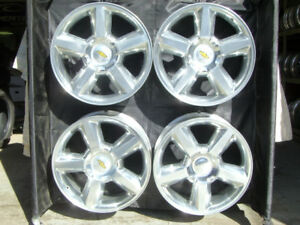 20 Inch Silverado Tahoe New Factory Polished Chevrolet Wheels 5308 With Caps