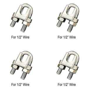 1 2 Wire Rope Clip Stainless Steel Type 304 4 Pack